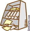 Vector Clip Art image  of a book shelf