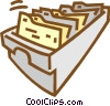Vector Clipart picture  of a files