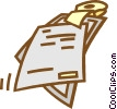Vector Clipart image  of a papers