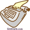 Vector Clip Art picture  of a typewriter