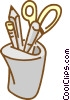 scissors, pens, pencil Vector Clip Art graphic