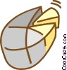Vector Clipart graphic  of a pie chart