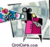 movies Vector Clipart graphic