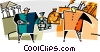garbage men Vector Clipart picture