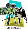 Vector Clipart picture  of a movies