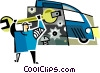 Vector Clip Art picture  of a mechanics
