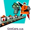 Vector Clipart picture  of an assembly line