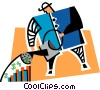 Vector Clip Art graphic  of a making money grow
