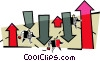Vector Clipart image  of a ups and downs