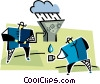 Vector Clip Art picture  of a recycle metaphor