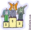 podium Vector Clipart graphic