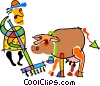 Vector Clipart graphic  of a farmer