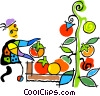 Vector Clip Art graphic  of a harvest