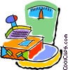 Vector Clipart graphic  of a postal scale