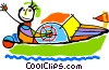 Vector Clipart graphic  of a speedboat