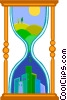 Vector Clipart graphic  of a hour glass