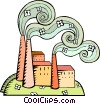 Vector Clipart graphic  of a factory