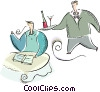 Vector Clipart graphic  of a waiter