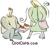 shoe salesman Vector Clip Art picture