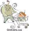 Vector Clipart illustration  of a House shopping