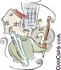 Vector Clipart image  of an architects