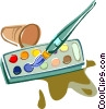 Vector Clip Art image  of a paint brush