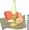 Vector Clipart image  of a oil lamp