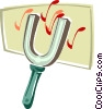 Vector Clipart graphic  of a tuning fork