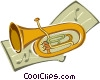 Vector Clip Art graphic  of a tuba