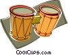 Vector Clip Art graphic  of a bongo