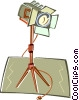 Vector Clip Art picture  of a light