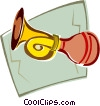 Vector Clip Art graphic  of a horn