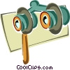 opera glasses Vector Clip Art graphic