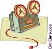 Vector Clip Art image  of a movie projector