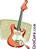 Vector Clipart picture  of a electric guitar