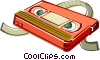 VCR tape Vector Clipart illustration
