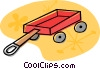 Red wagon Vector Clipart graphic