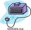 digital alarm clock Vector Clipart picture