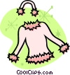 Vector Clipart image  of a clothes
