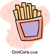 Vector Clip Art picture  of a French fries