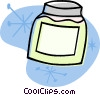 Vector Clip Art image  of a cold cream
