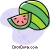 Vector Clip Art image  of a watermelon