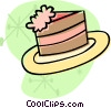 Vector Clip Art graphic  of a Chocolate cake