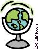 Vector Clip Art image  of a world globe