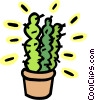 Vector Clipart image  of a cactus