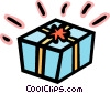 Vector Clip Art picture  of a Gift