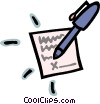pen and paper Vector Clipart image