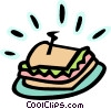 Vector Clip Art image  of a sandwich