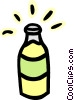 Vector Clip Art image  of a bottle of pop