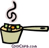 Pot of stew Vector Clip Art graphic